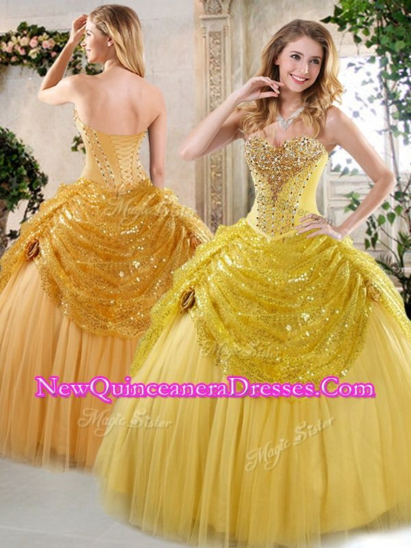 2016 Unique Ball Gown Sweet 16 Dresses with Beading and Paillette for Fall - $228.85