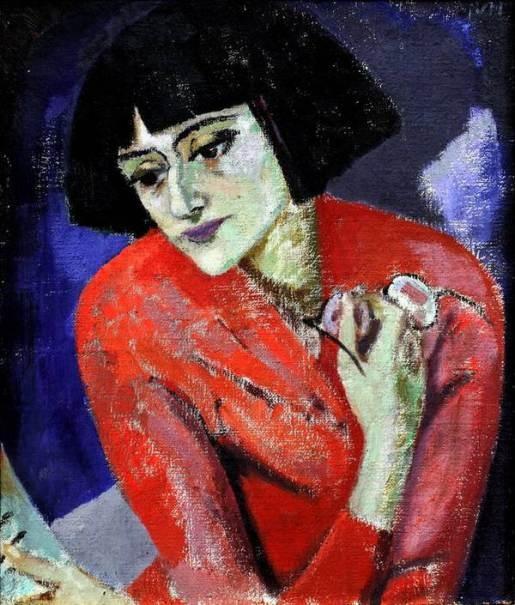 922 Kuzma Petrov Vodkin: Retratp de Anna Akhmatova, poetisa/Portrait of Anna Akhmatova, poetess.