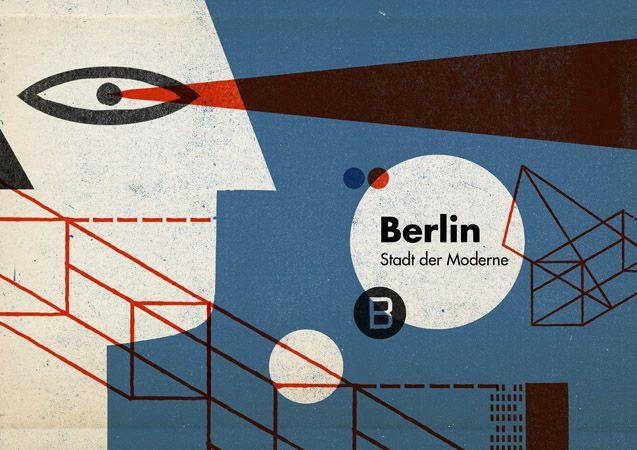 Cristóbal Schmal aka nomono - guided tour for the 90th anniversary of the Bauhaus (Berlin 2009) #illustration #collage / www.artnomono.com