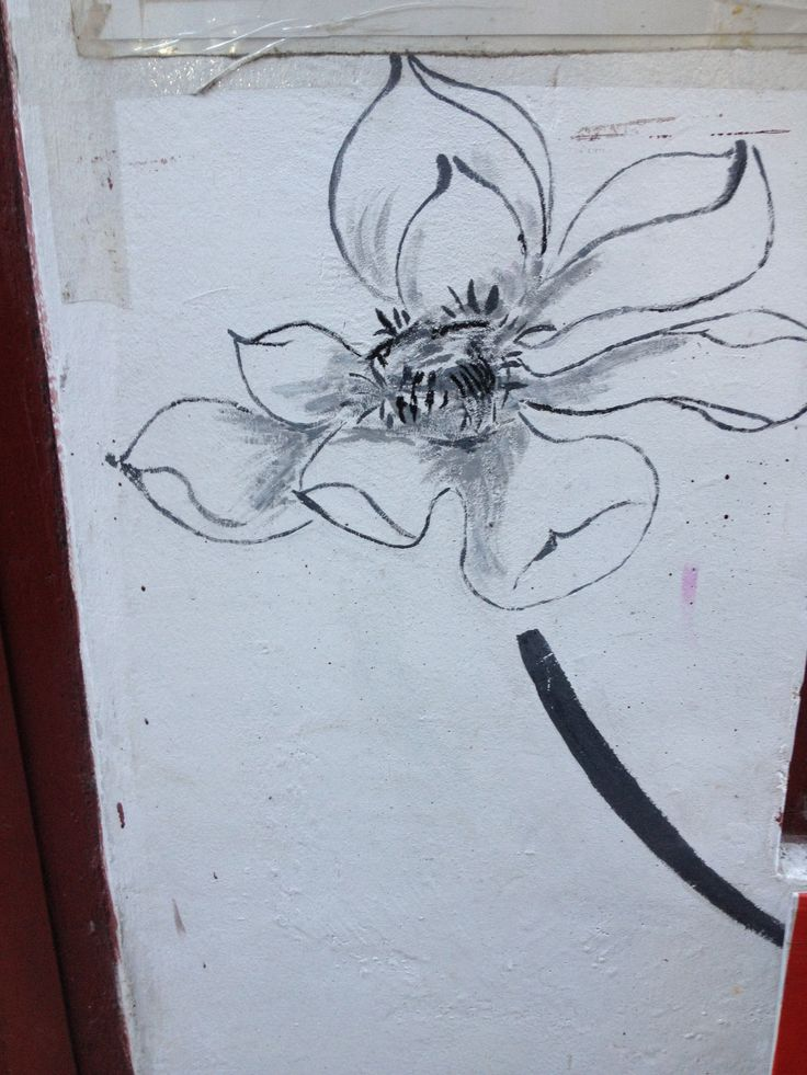 Wall painting-flower