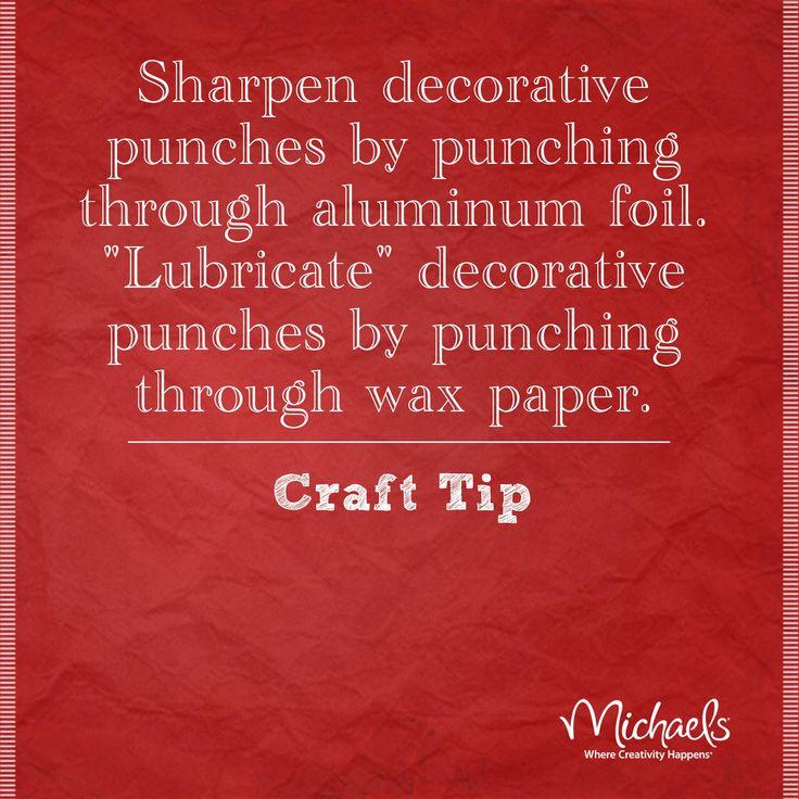 #TuesdayTip #punches #MichaelsStores