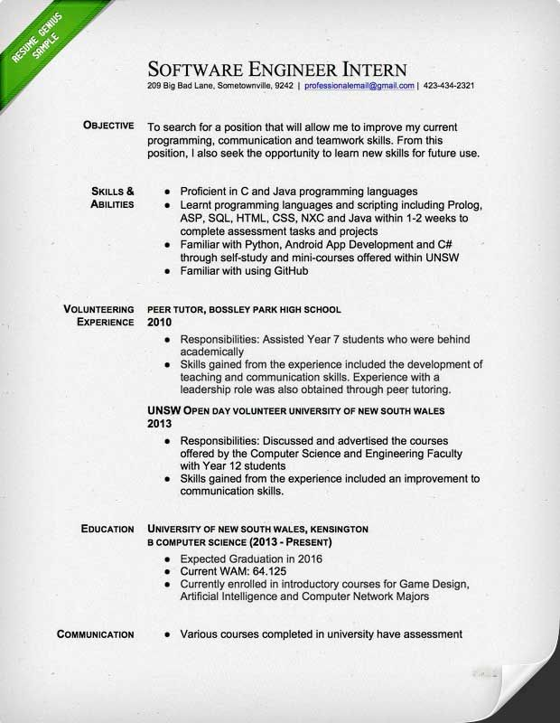 example of a good engineer resume