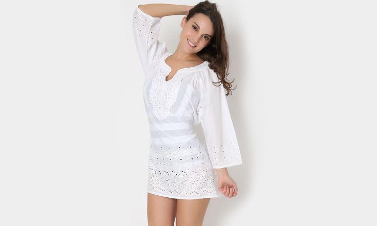 #beach #beachstyle #beachwear #summer #white #blanco #colors #dress #playa #fashion #moda #mexicana https://www.facebook.com/peccatumbysolperea