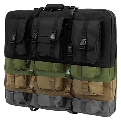 "Tactical Deluxe Dual Double Subgun AR AK Pistol Folding Carbine Rifle Case Bag Exterior Pockets PVC Padded 28"" - Black   http://huntinggearsuperstore.com/product/tactical-deluxe-dual-double-subgun-ar-ak-pistol-folding-carbine-rifle-case-bag-exterior-pockets-pvc-padded-28/?attribute_pa_color=black"