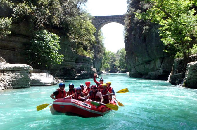 Whitewater Rafting Trip in Koprulu Canyon National Park Enjoy wet and wild adventure in Turkey on this 7-hour white-water rafting adventure in the Köprülü Canyon National Park. Delve into the Köprülü Canyon National Park with a guide and enjoy sweeping views over Turkey's beautiful countryside. Following a safety briefing, take to the swirling class II rapids and enjoy a hair-raising .7-mile (14km) descent. Look out for sightings of native wildlife along the way, and stop for ...