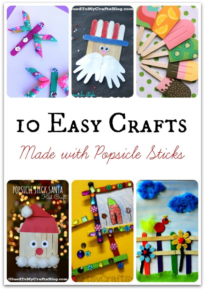 Popsicle Stick Craft Ideas For Kids Part - 35: 10 Easy Popsicle Stick Crafts