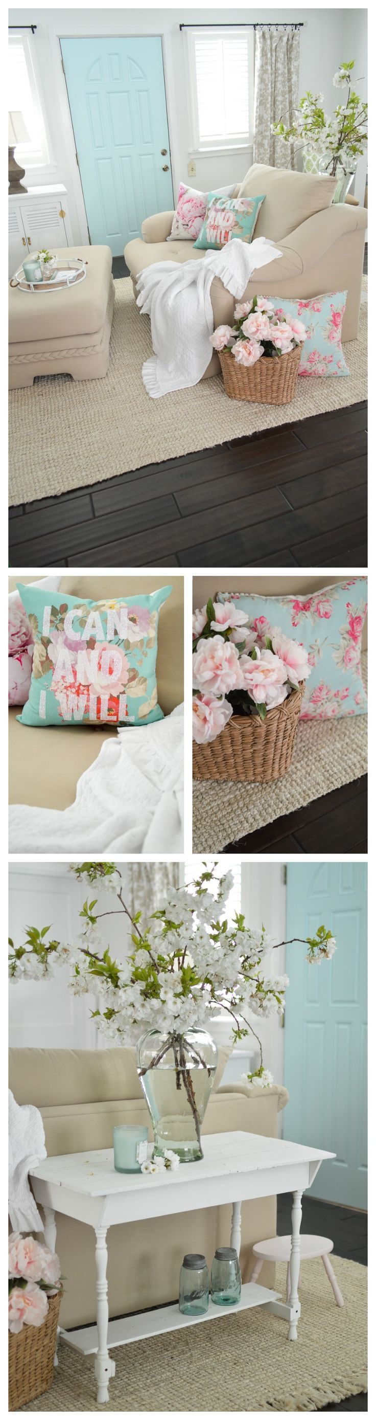 I love sharing my eclectic cottage-farmhouse decorating ideas with you, like this fun aqua painted interior door. Such a fast, fun way to add some whimsical style to your home, without doing anything too drastic or permanent! Did you know you can a paint a door in about 30 minutes? I change mine often and enjoy the different vibes the color changes offer for so little money. I'll show you how at ww.foxhollowcotta... xo Shannon