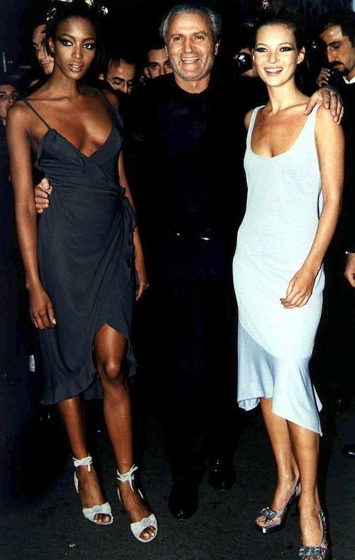 Naomi Campbell, Gianni Versace, & Kate Moss