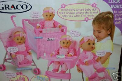 baby graco nursery playset with interactive smart baby doll smart baby. Black Bedroom Furniture Sets. Home Design Ideas