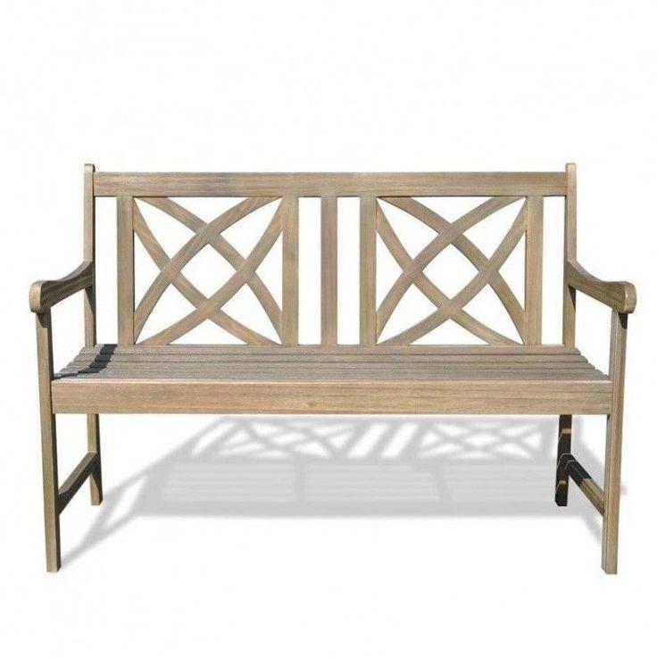 Outdoors Garden Bench 4 Foot Wooden Patio Furniture Porch Renaissance Style Home #OutdoorsGardenBench