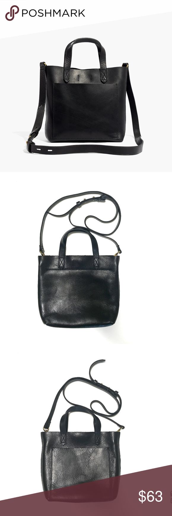 MADEWELL SMALL TRANSPORT CROSSBODY LEATHER COLOR IS TRUE BLACK, VINTAGE GOLD HARDWARE EXCELLENT CONDITION, JUST AS PICTURED - NO EDITS THIS IS A CLASSIC MADEWELL BAG AND COLOR - NEVER GOES ON SALE!  100% LEATHER BE SURE TO CHECK OUT THE PHOTO OF AN ALTERNATE COLOR FOR SIZE REFERENCE! STYLE#G8078 HAPPY TO ANSWER ANY QUESTIONS! Madewell Bags Crossbody Bags