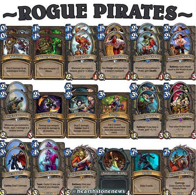 hearthstone deck rogue pirates