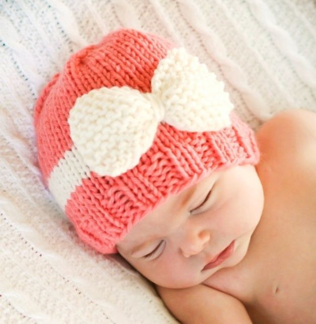 Photo Props Baby  Hat with Ribbon
