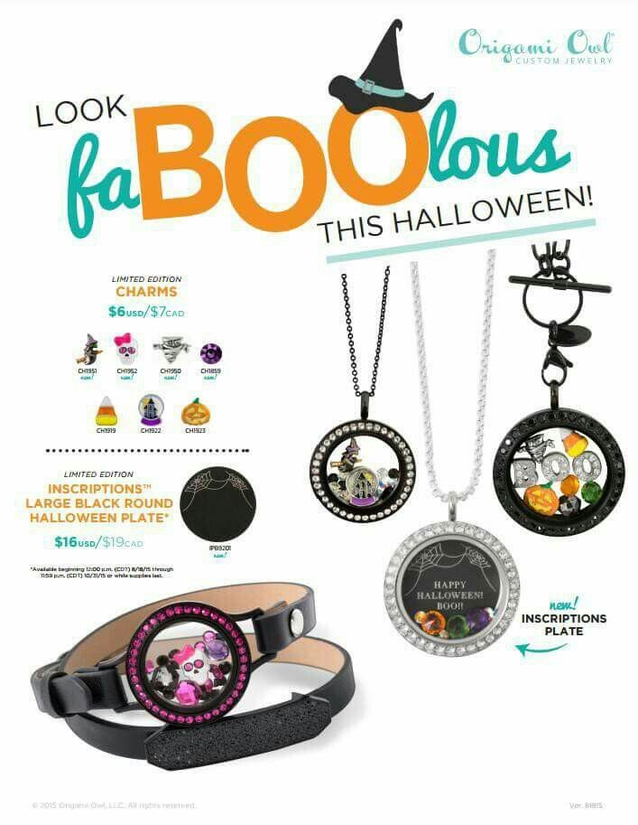 "A faboolous way to add some ""scare"" to your Halloween accessories!  Available 9/1"