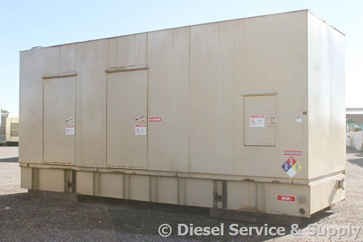 For Sale! Cummins 750 kW Generator Model #DFHA-4481278, Year 2000, 184 Hours, 480 Volt, 3 Phase, Weatherproof Enclosure, Auto Start/Stop, Safety Shut Down, Dry Pack Air Cleaner, 1200 Amp Circuit Breaker, Muffler, Tank Type Block Heater, Standard Generator Panel, Digital Engine Panel, Engine Mount Radiator, 1500 Gallon Double Wall Base Fuel Tank. Unit#: 87403 #cummins #dieselgenerator http://www.dieselserviceandsupply.com/Used-Generators/Cummins-750-87403.aspx