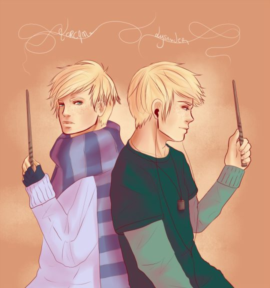 Luna Lovegood and Rolf Scamander had twin sons, Lysander and Lorcan.
