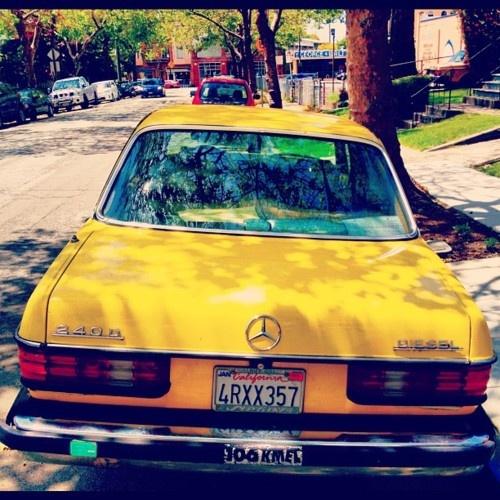 Yellow Mercedes Vintage.