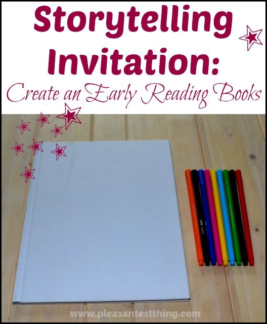 Storytelling Invitation: the simplest form of bookmaking and a simple literacy activity