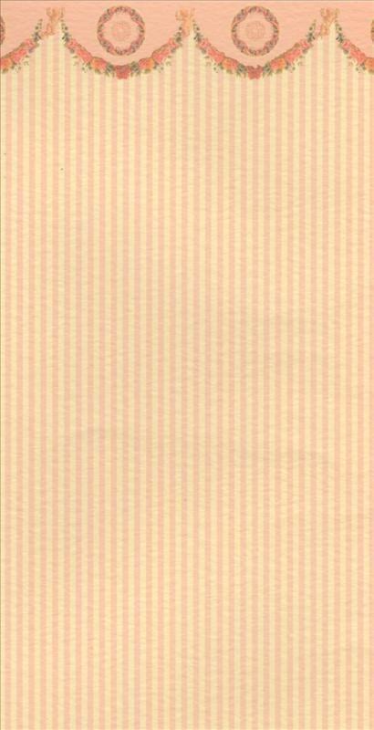 Apricot gestreifte Tapete mit Ornament, Puppenhaus, Puppenstube 1:12 | eBay