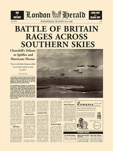Battle Of Britain Art Print by London Herald - WorldGallery.co.uk
