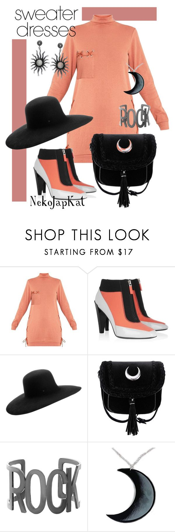 """""""sweraterdress2"""" by neko-m-tucker-smith ❤ liked on Polyvore featuring Kenzo, Maison Michel, Steve Madden and Curiology"""