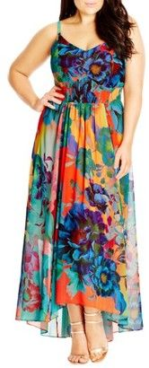 Plus  size multi color Maxi dress