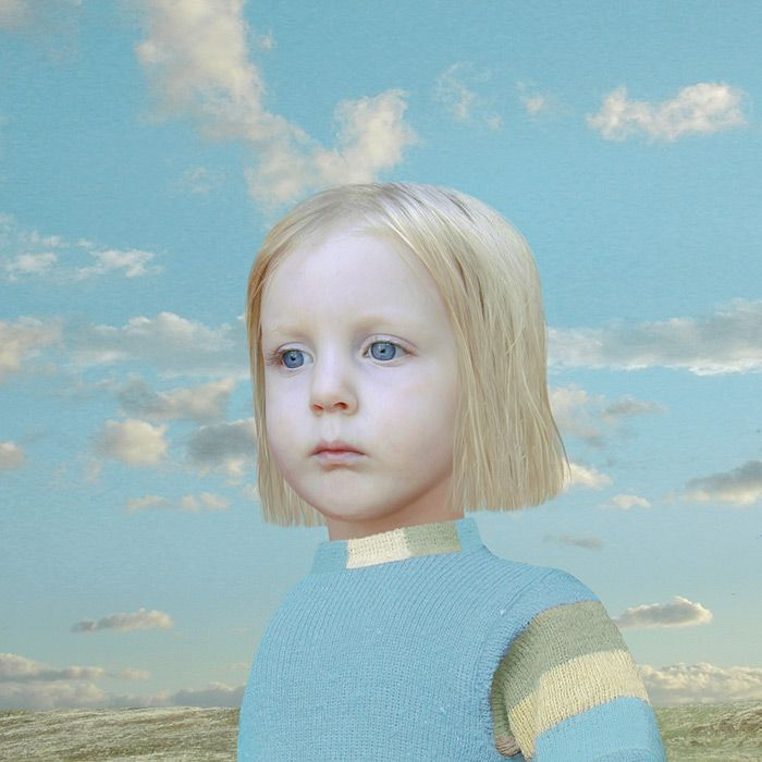 Lux executes her compositions using a combination of photography, painting and digital manipulation. Her work usually features young children. She originally trained as a painter at Munich Academy of Art, and is influenced by painters such as Agnolo Bronzino, Diego Velázquez, Phillip Otto Runge.  Her work likes to show a child in a lost paradise. She alters the children's heads on photoshop to make it bigger to look like a doll. She also photshops out the shadow in the photo.