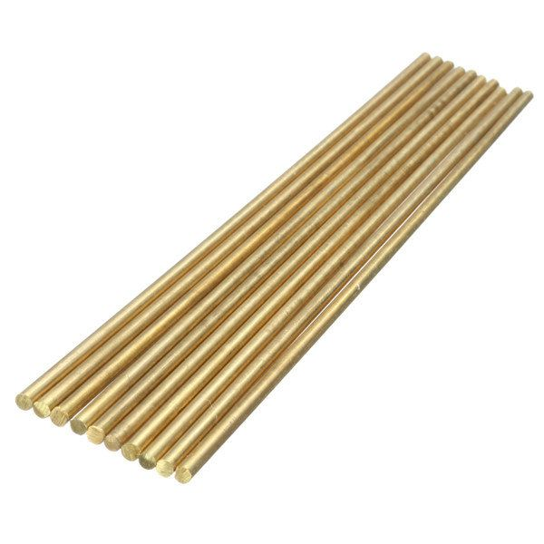 10pcs 200mm x 3mm Round Brass Rod Circular Bar for CNC Lathe Machine