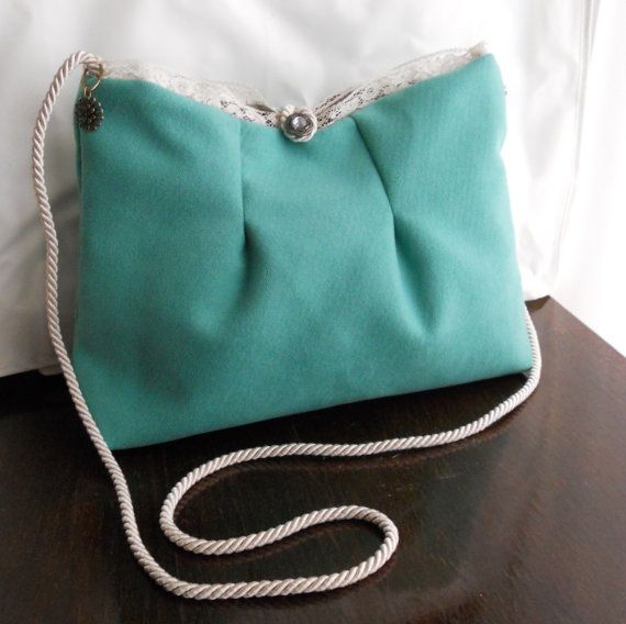 Borsa VerdeAcqua Tiffany Bag HandMade by BirBetty di BirBetty, €28.00