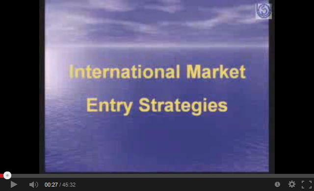 International Market Entry Strategies