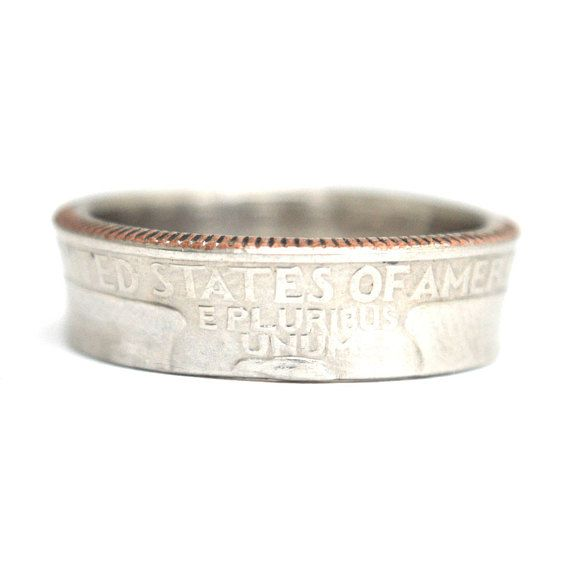 Coin Ring/ Münzring State Quarter USA sizeUS 6  9 1/2