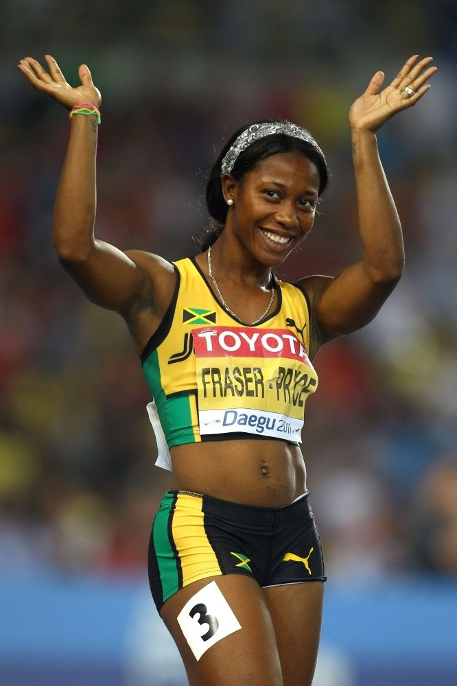 Shelly-Ann Fraser-Pryce Olympic Gold medalist and currently the fastest woman in the world.