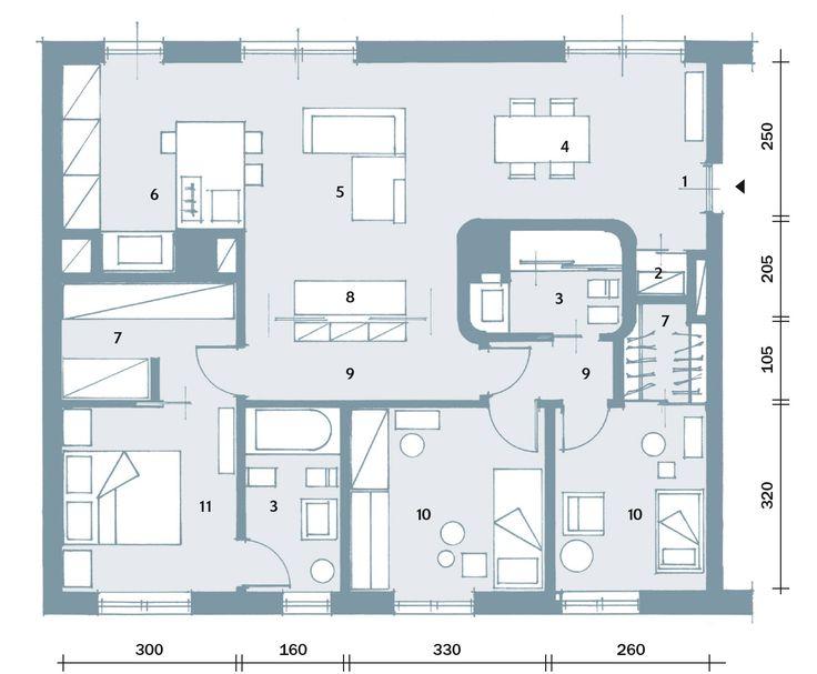 Oltre 25 fantastiche idee su planimetrie dell 39 appartamento for Planimetrie di case personalizzate