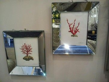 Coral Pictures with Mirror Frames tropical artwork