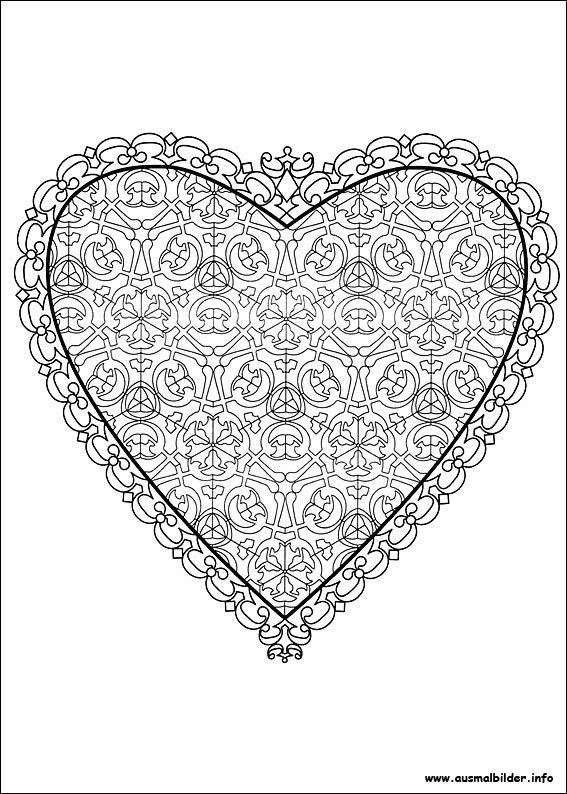 valentinstag malvorlagen  valentines day coloring