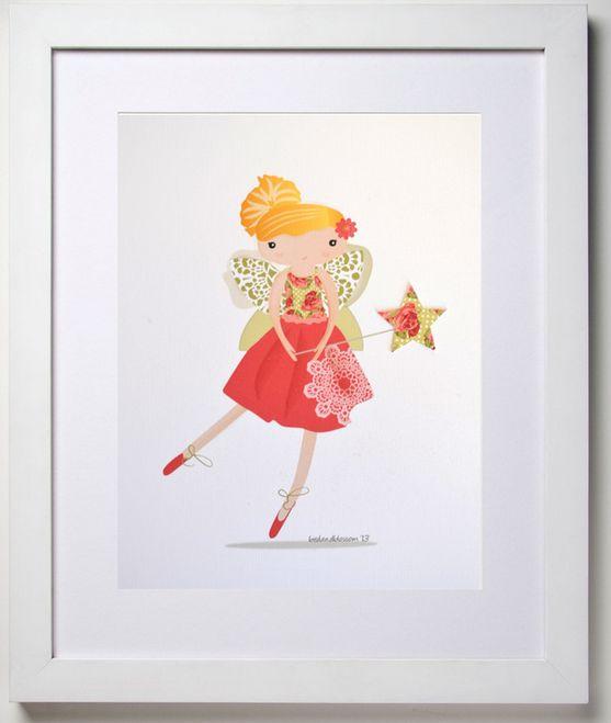 Ava from the Little fairy range of prints at birdandblossom.com.au