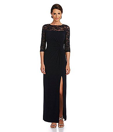 R and M Richards Lace Yoke Gown #Dillards