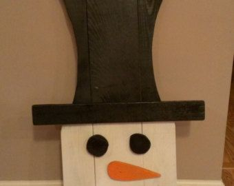 Pallet Snowman by MakeItMary on Etsy