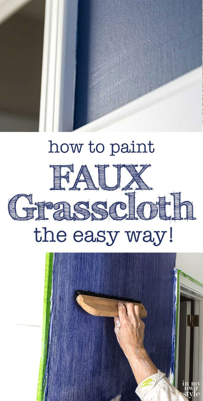 Faux grasscloth painting technique. How to paint faux grasscloth on walls the easy way.