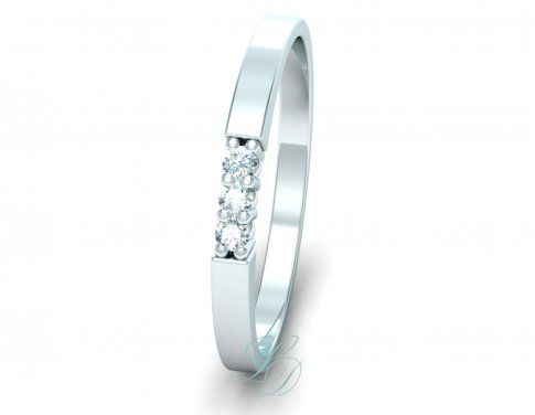 LIV - Wedding Ring FOR HER - LucyDiamonds.cz Beautiful diamond wedding ring with three diamonds...