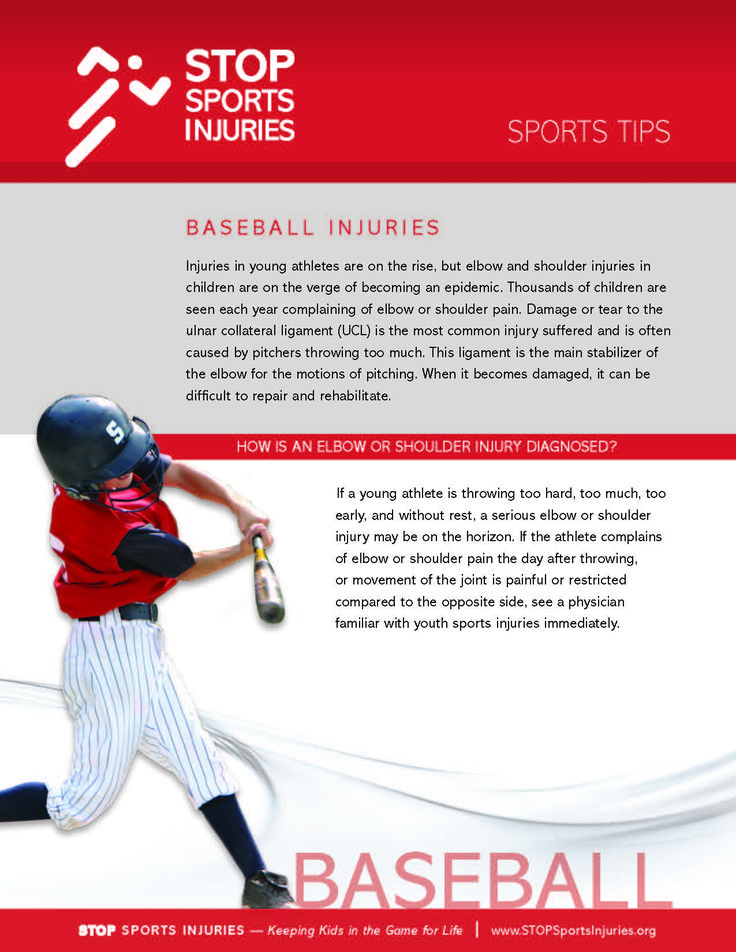 baseball avoiding injuries essay Preventing concussions in sports such as football, baseball, cheerleading, cheer, spirit, track and field, soccer, diving, swimming and ice hockey.