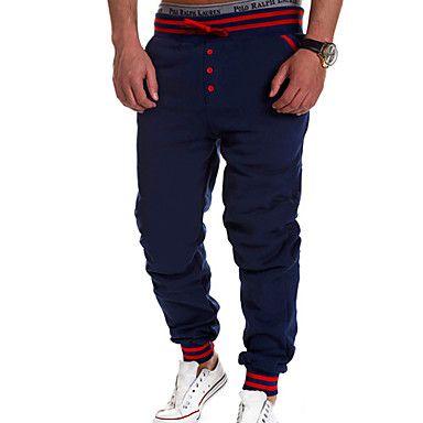 ITT мужские сплошной цвет спортивные свободно талией однобортный штаны - RUB p. 1 157,63