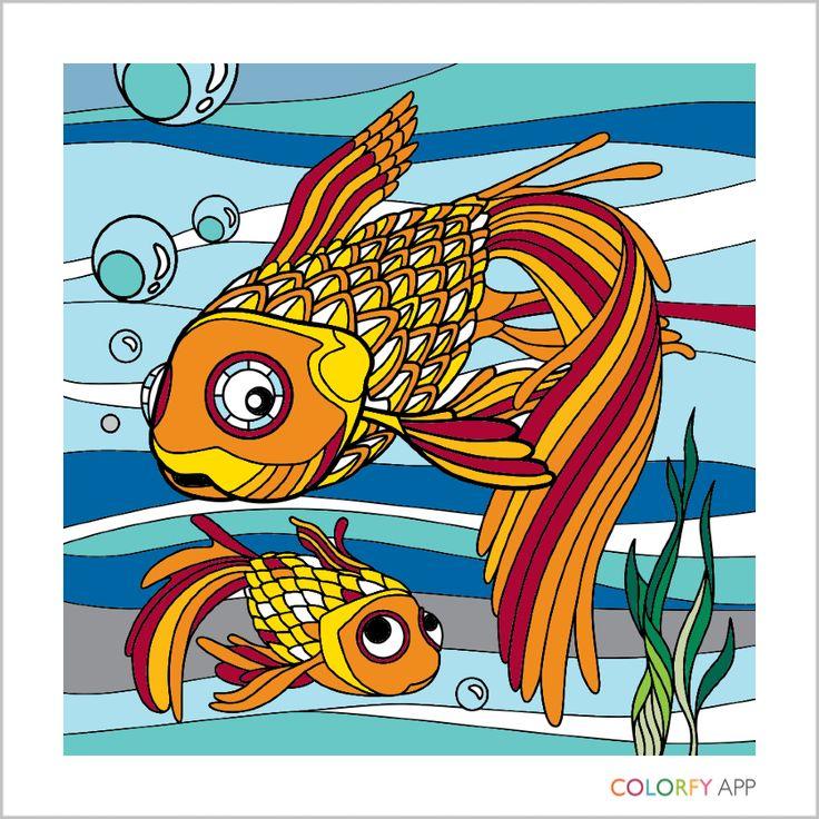 Golden Fish. Adult ColoringColoring BooksGolden FishAppAdult ...