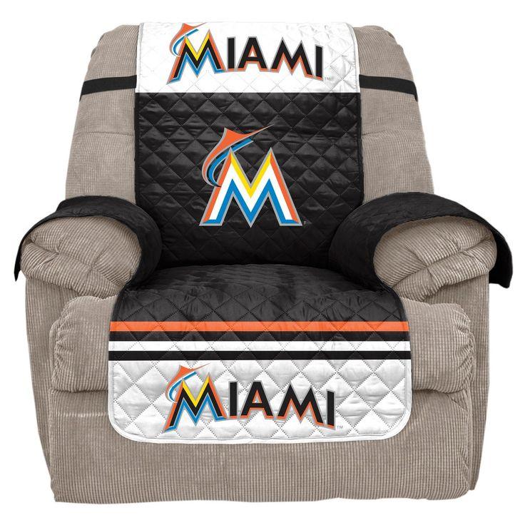 MLB Miami Marlins Recliner Slipcover, Durable