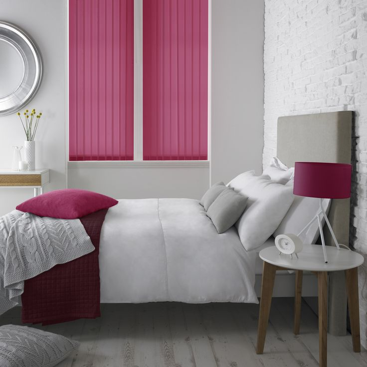 Fuschia vertical blinds by Style Studio.
