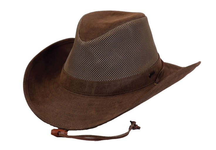 Outback Trading Co Knotting Hill Mens Hat Brown Cotton Blend Vintage UPF