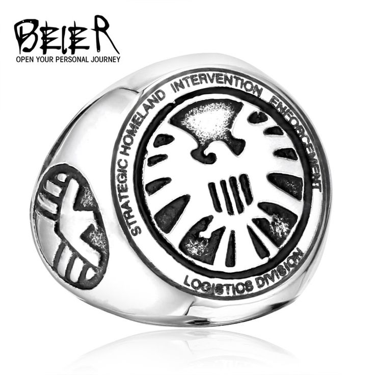2017 Shield Strategic Homeland Intervention, Enforcement And Logistics Division Ring Stainless Steel Cool Movie Ring BR8-174