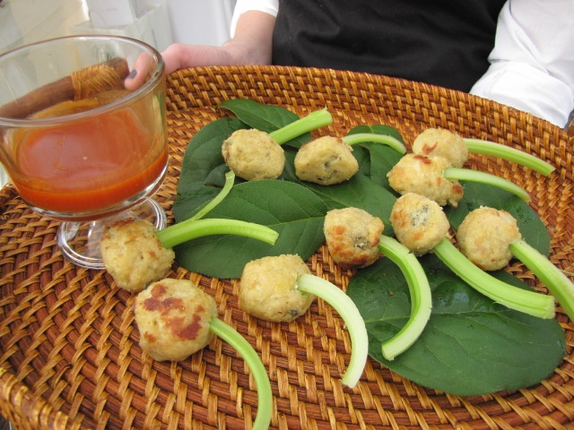 buffalo chicken meatballs  Sagra Catering