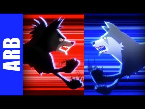 Insanity Wolf vs. Courage Wolf - ANIMEME RAP BATTLES (+playlist)