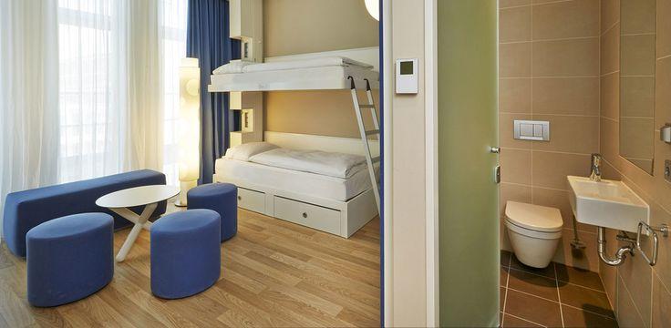 Mehrbettzimmer - bis zu 4 Personen   H2 Hotel München Messe
